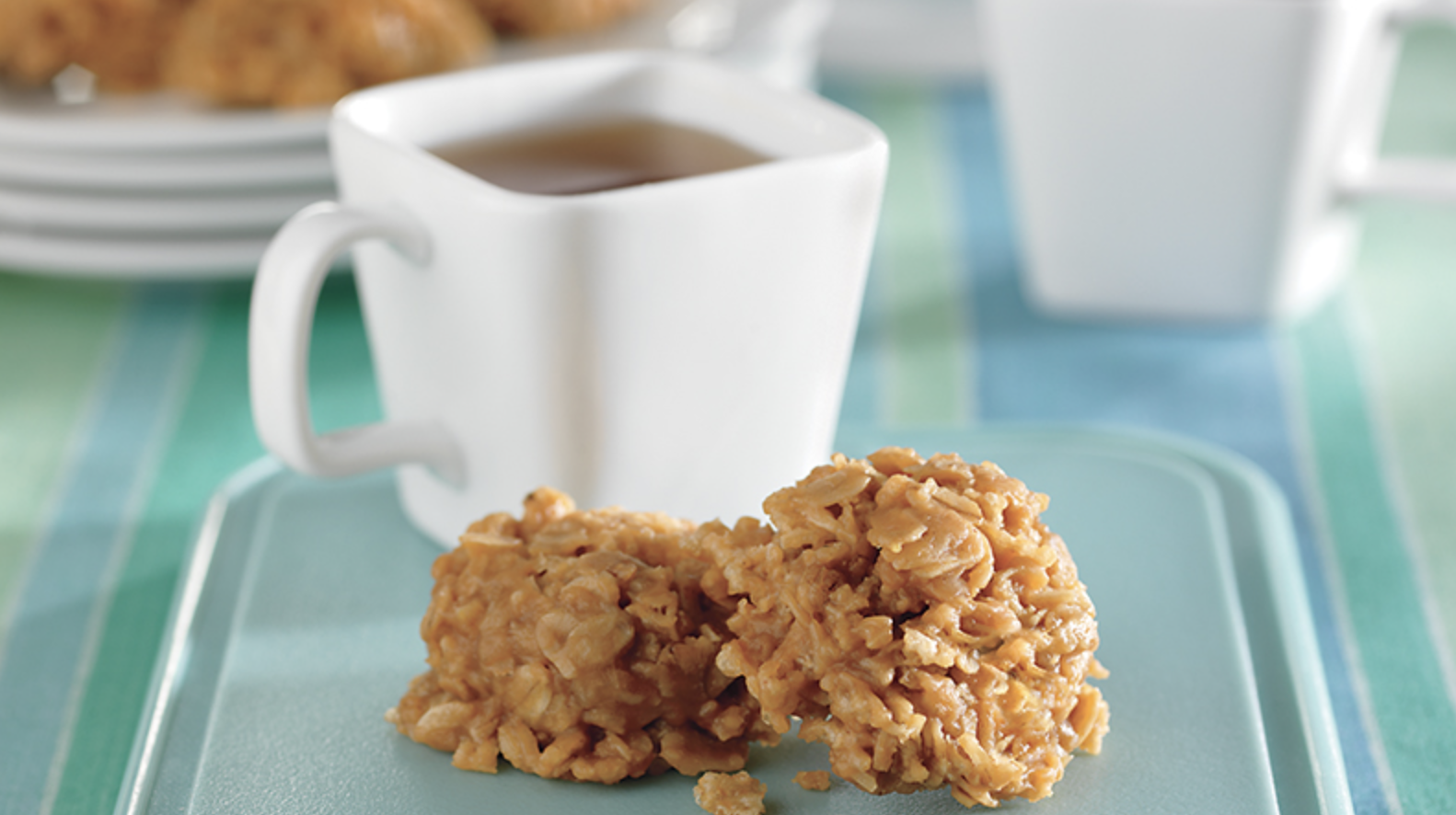 Crispy No Bake  Peanut Butter Oat Cookies