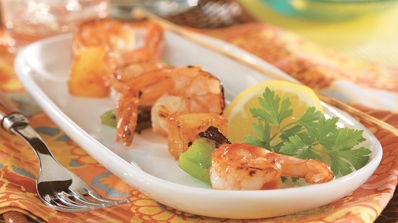 Low-Carb Shrimp and Pineapple Kabobs