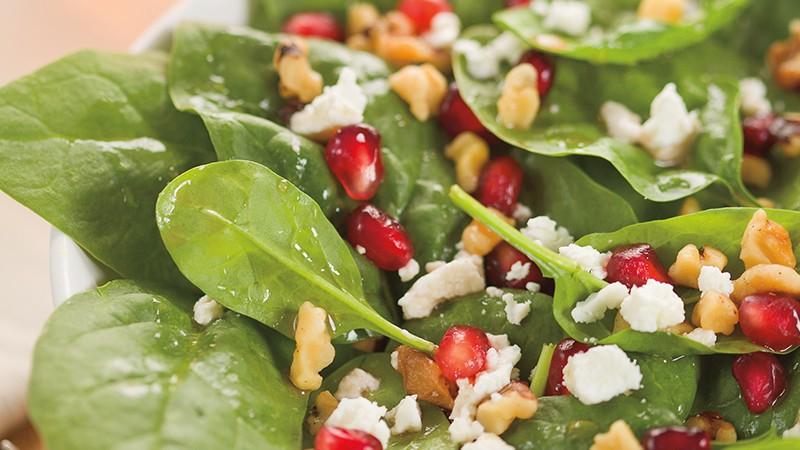 Spinach Salad with Pomegranate Vinaigrette