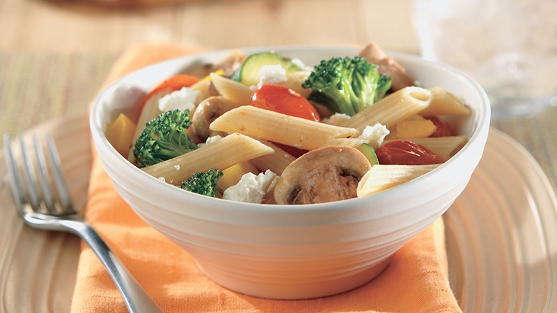 Whole Wheat Penne With Summer Vegetables