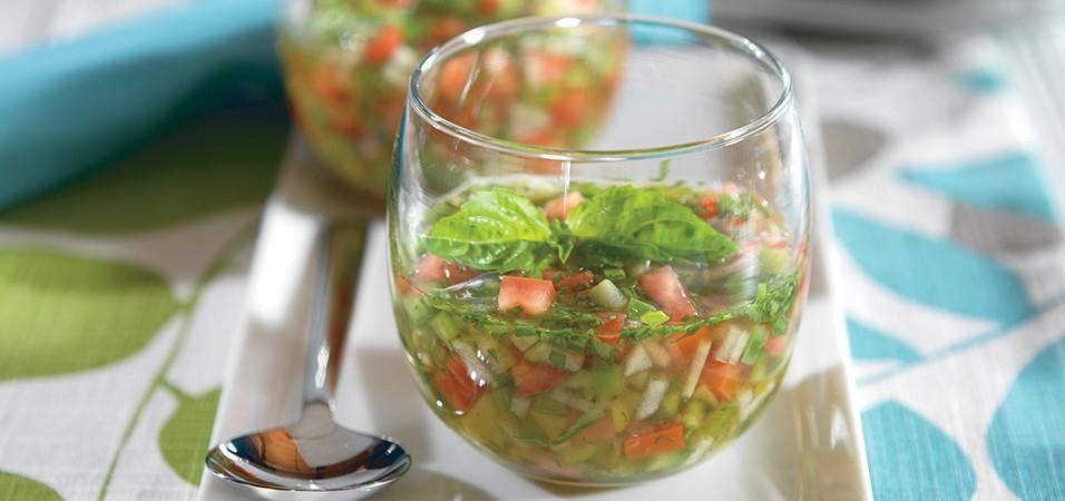Chilled Fresh Tomato Basil Soup