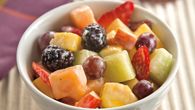 Fruit Salad with Creamy Banana Dressing