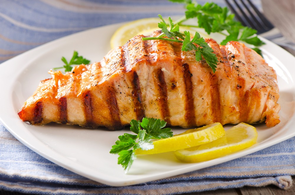 Low-Carb Simple Grilled Salmon