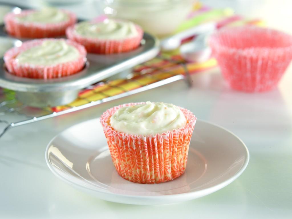 Orange Cupcakes with Orange-Ginger Frosting