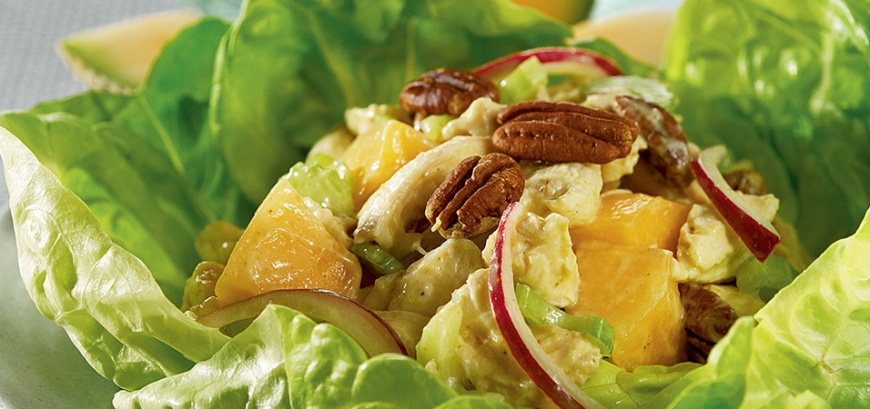 Chicken And Cantaloupe Salad With Toasted Pecans